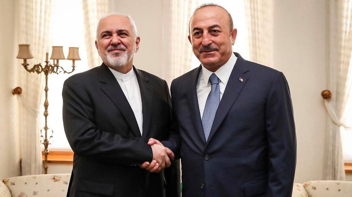 File photo of both Iranian Foreign Minister Mohammad Javad Zarif and Turkish Foreign Minister Mevlut Çavusoglu. (AP)