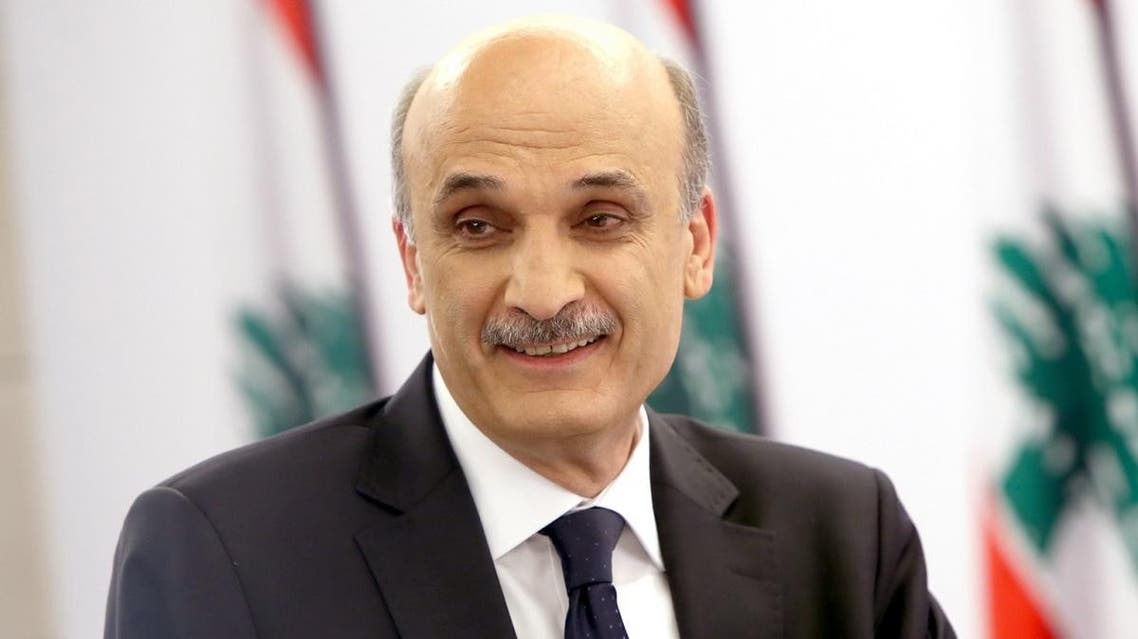 The head of the Lebanese Forces Party Samir Geagea. (File photo: AFP)