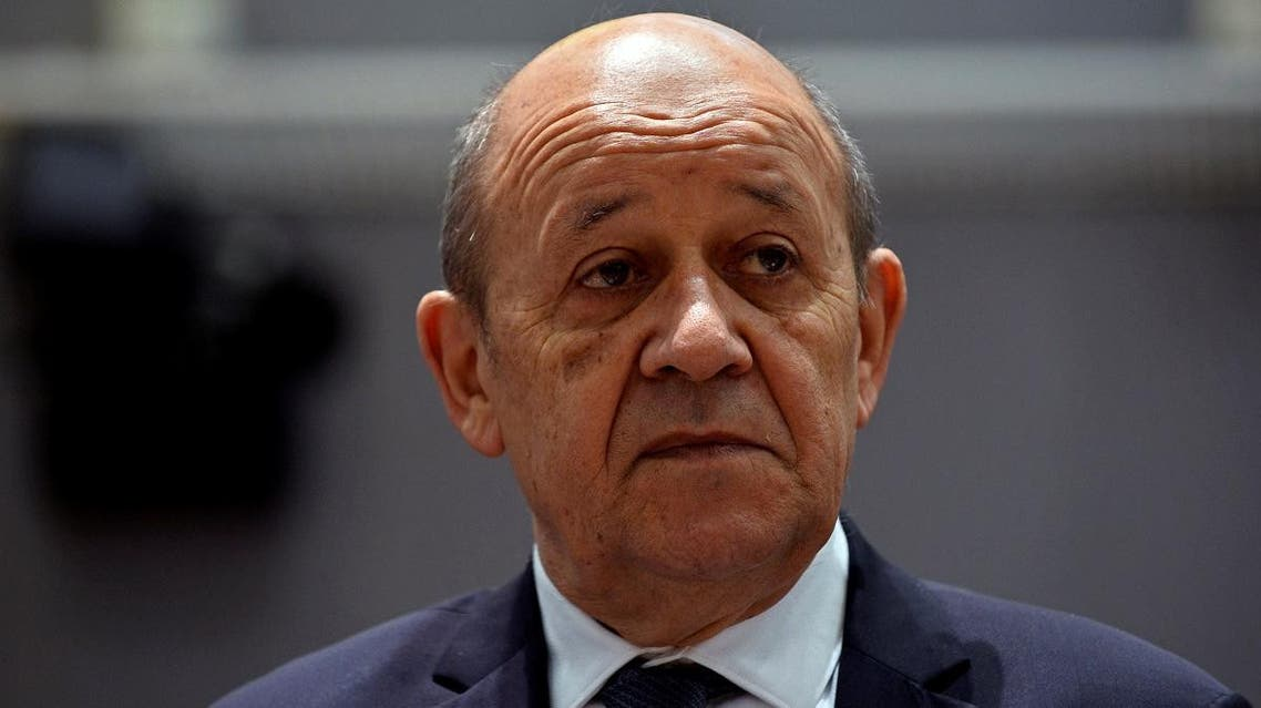 French Foreign Minister Jean-Yves Le Drian attends a EU foreign ministers meeting in Brussels, Belgium July 15, 2019. REUTERS