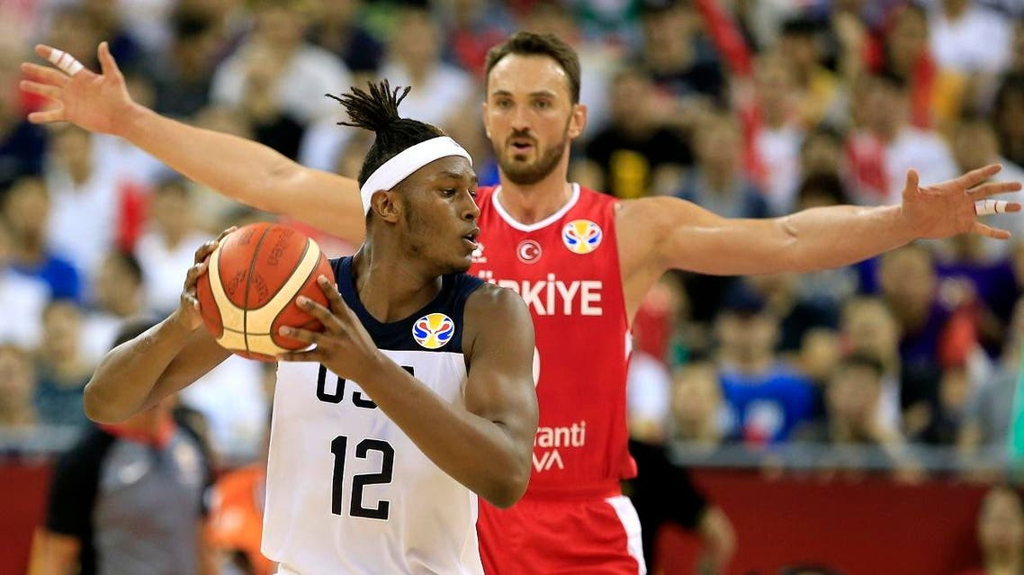 Myles Turner of the US in action. (Reuters)