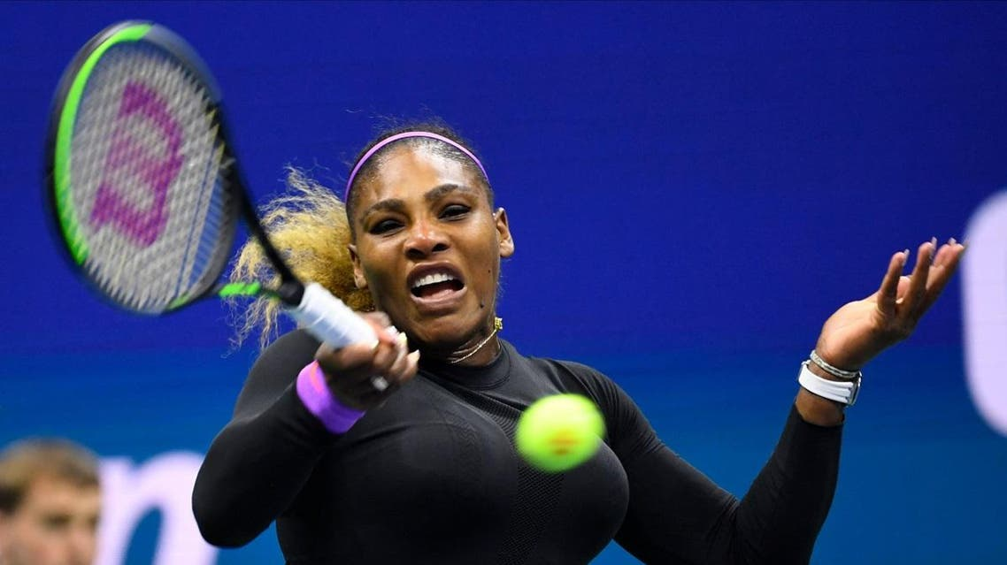 Serena Williams of the USA hits to Qiang Wang of China in a quarterfinal match. (Robert Deutsch-USA TODAY Sports)