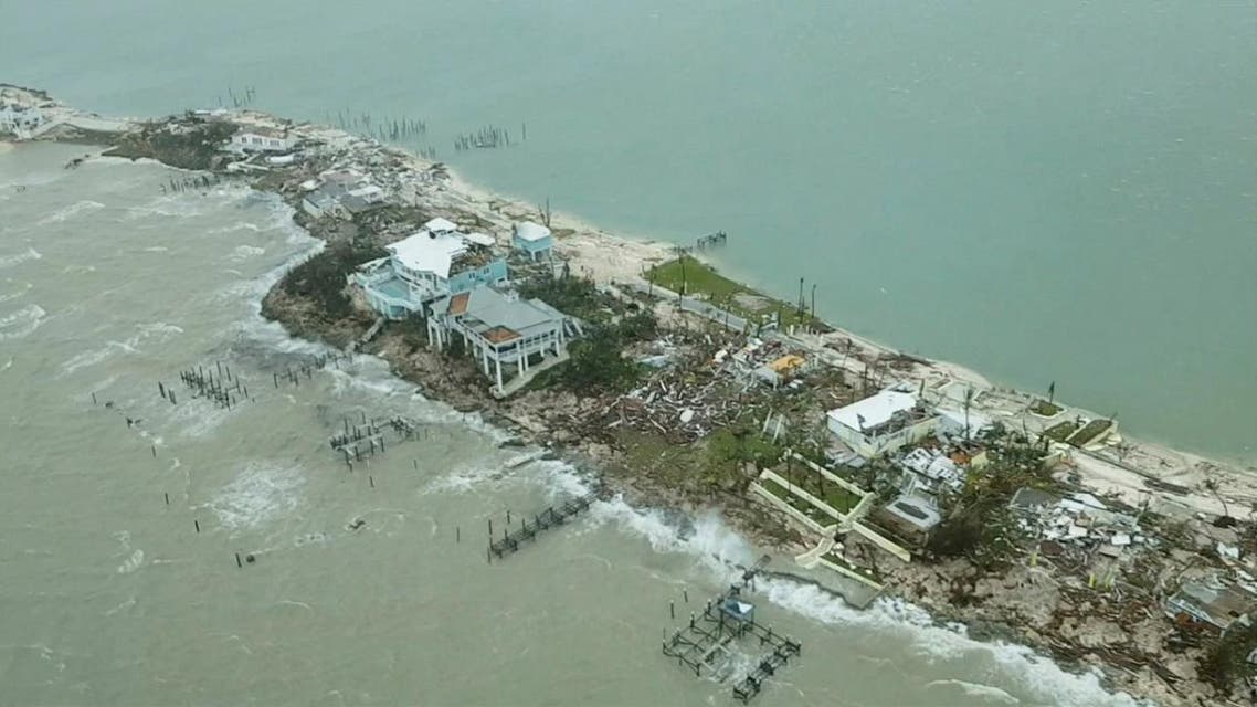 Aerial view shows devastation after hurricane Dorian hit the Abaco Islands in the Bahamas. (Reuters)