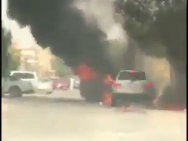 هذا ما أوضحه الدفاع المدني في حادثة دفع سيارة مشتعلة بالرياض