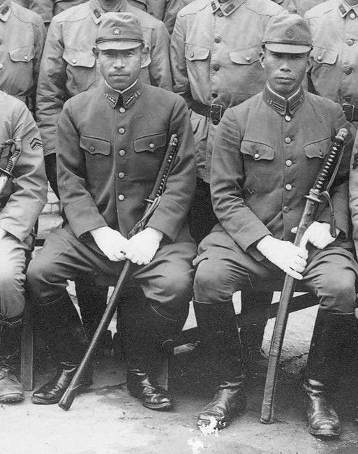 صورة لجنود يابانيين بالحرب العالمية الثانية