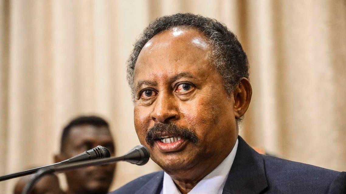 Prime Minister Abdalla Hamdok speaks during a press conference in Khartoum, Sudan. (File photo: AP)