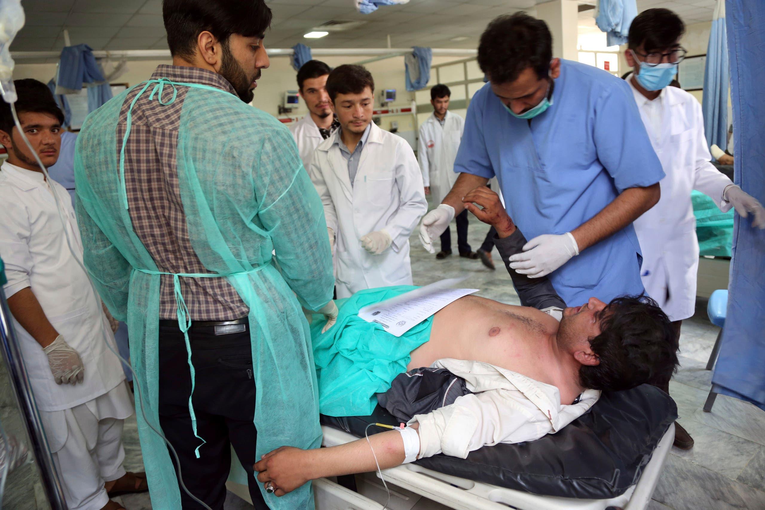 من عملية إسعاف الضحايا