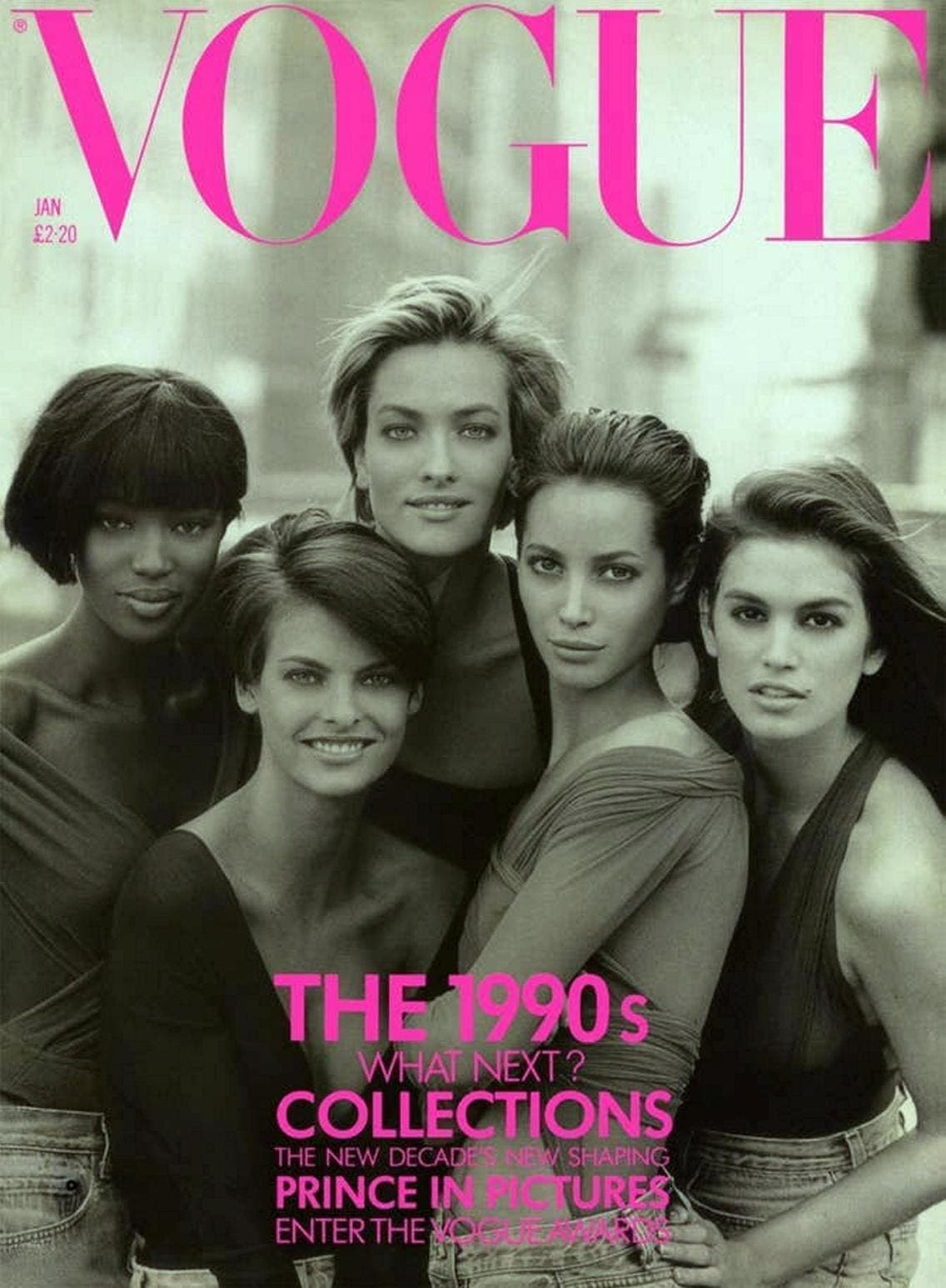 إحدى أشهر صوره على غلاف مجلة فوغ في العام 1990