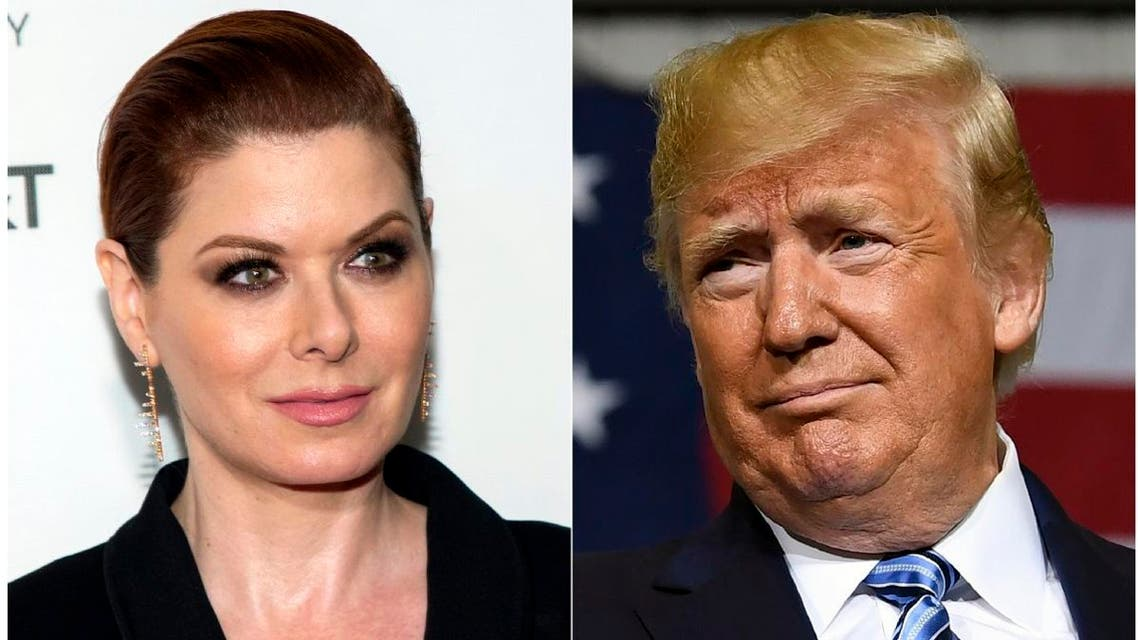 """President Donald Trump is calling Debra Messing, the liberal activist and """"Will & Grace"""" star, a racist and saying she should be fired from the NBC sitcom. (AP)"""