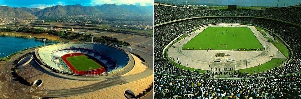 ملعب آزادي الذي يسع 95 ألفاً، معنى اسمه الحرية، إلا أنه ممنوع على الإيرانيات، هو وغيره