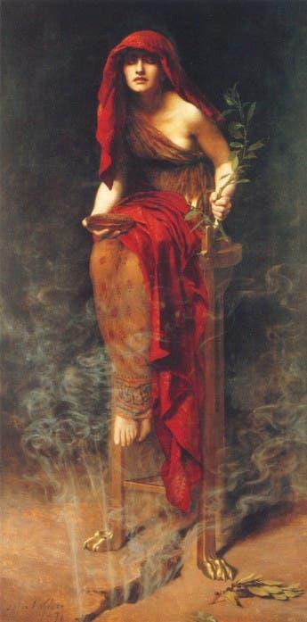 لوحة تخيلية لبيثيا بدلفي