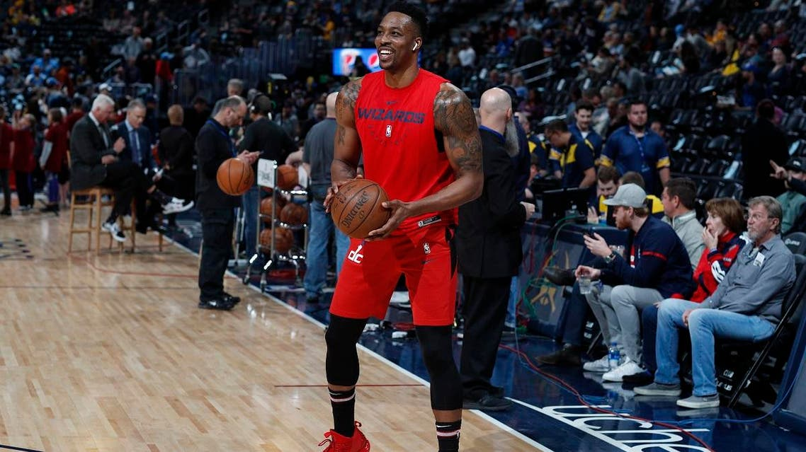 Washington Wizards center Dwight Howard (21) in the first half of an NBA basketball game Sunday, March 31, 2019, in Denver. (File photo: AP)