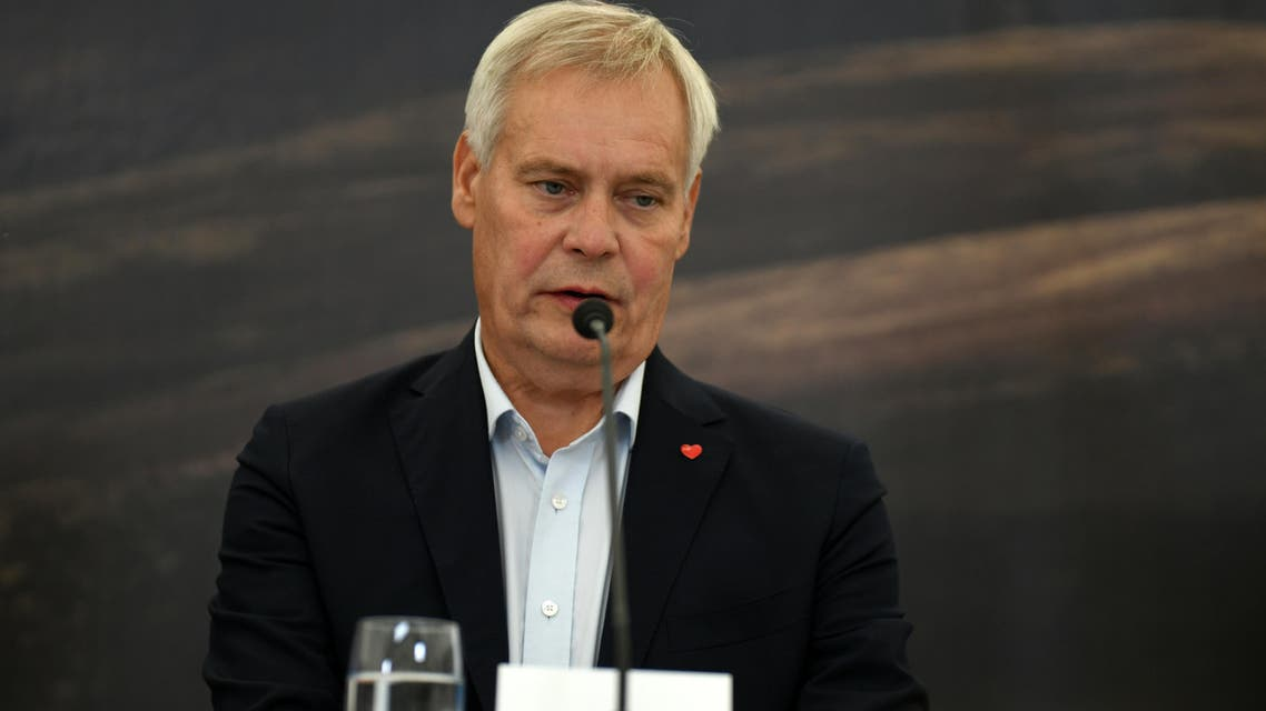 Finland's Prime Minister Antti Rinne speaks during a press conference after a meeting with Nordic CEO's, part of the annual summer meeting of the Nordic heads of government on Videy island in Reykjavik on August 20, 2019. AFP
