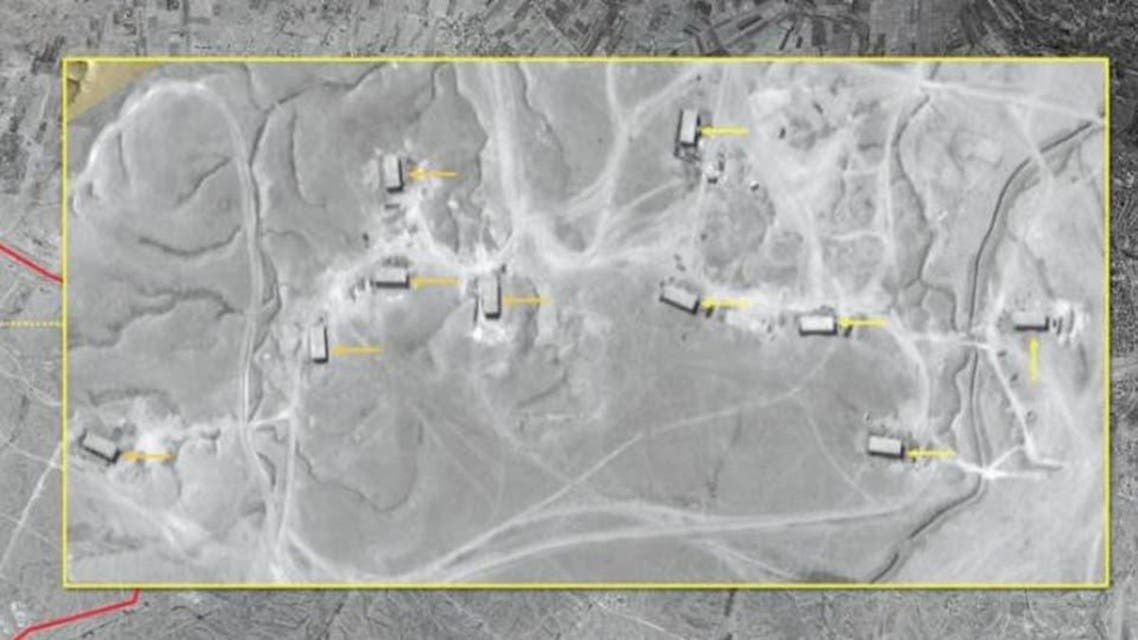 Israeli releases  images of irani militry bases in Syria