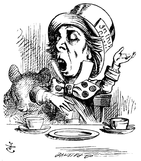 رسم تخيلي لشخصية صانع القبعات المجنون برواية أليس ببلاد العجائب