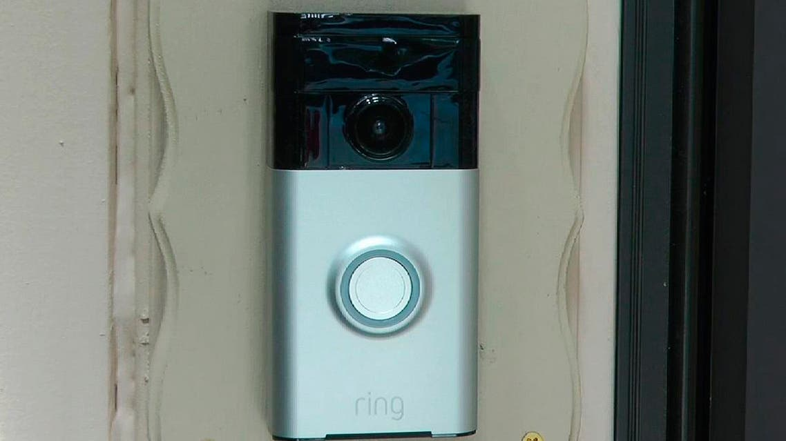 A Ring doorbell camera is shown at a home in Coon Rapids, Minnesota. (AP)