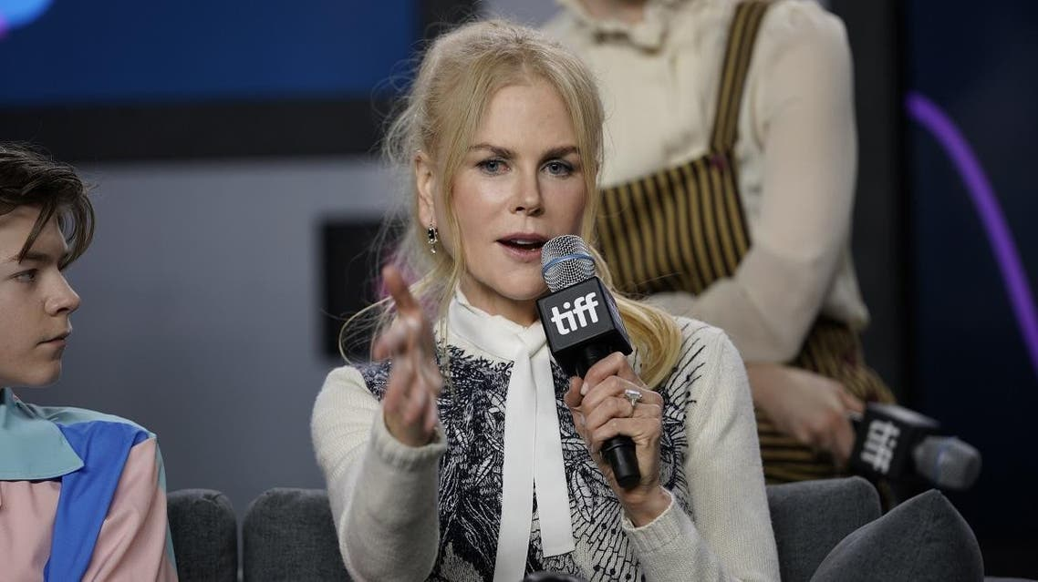 Actress Nicole Kidman speaks during a press conference for The Goldfinch at the Toronto International Film Festival in Toronto, Ontario on September 8, 2019. (AFP)