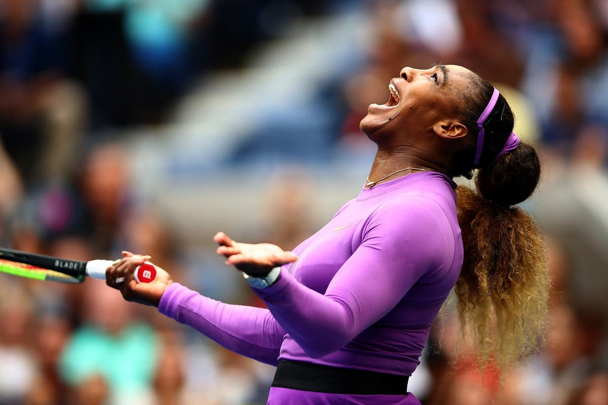 Serena Williams of the United States reacts during her Women's Singles final match against Bianca Andreescu of Canada at the US Open on September 7, 2019. (AFP)
