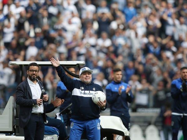 بسبب الرئيس.. مارادونا يرحل عن خيمناسيا الأرجنتيني