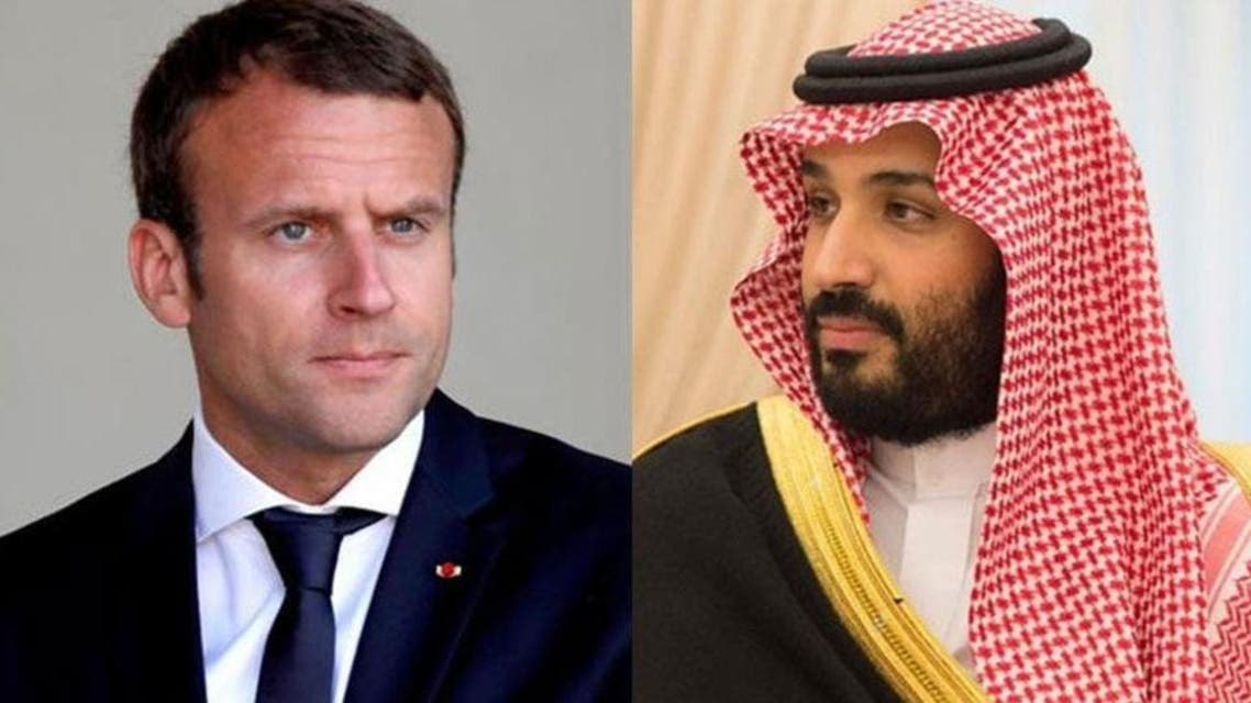 Combo picture of Saudi Arabia's Crown Prince Mohammed bin Salman and French President Emmanuel Macron. (File photo)