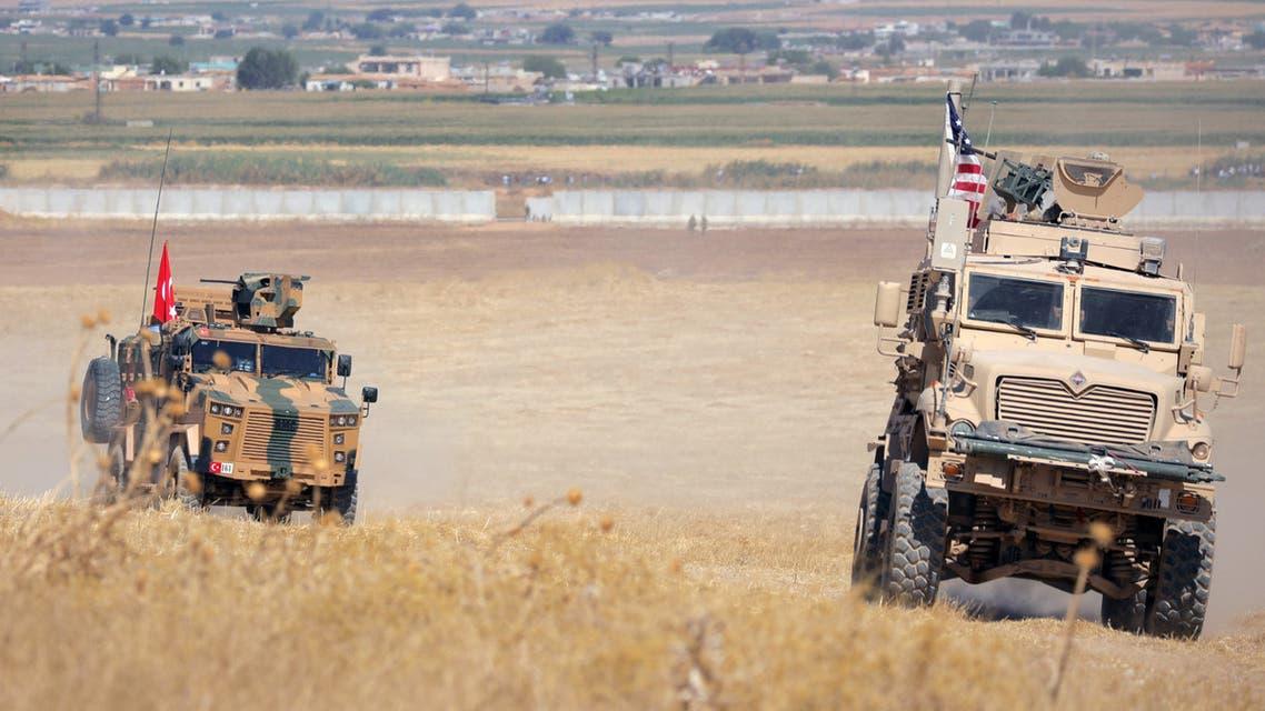 دوريات أميركية تركية مشتركة قرب تل أبيض