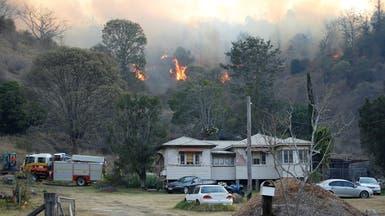 أستراليا.. رياح قوية تؤجج حرائق الغابات وتعطل رحلات جوية