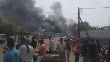 انفجار مخزن أسلحة ومعمل لصناعة المتفجرات للحوثي بالحديدة