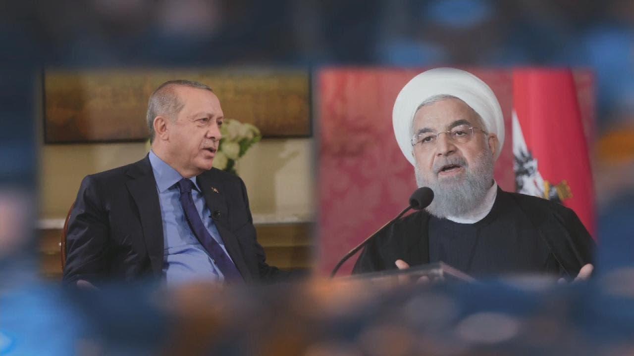 الرئيسان الإيراني حسن روحاني والتركي رجب طيب أردوغان