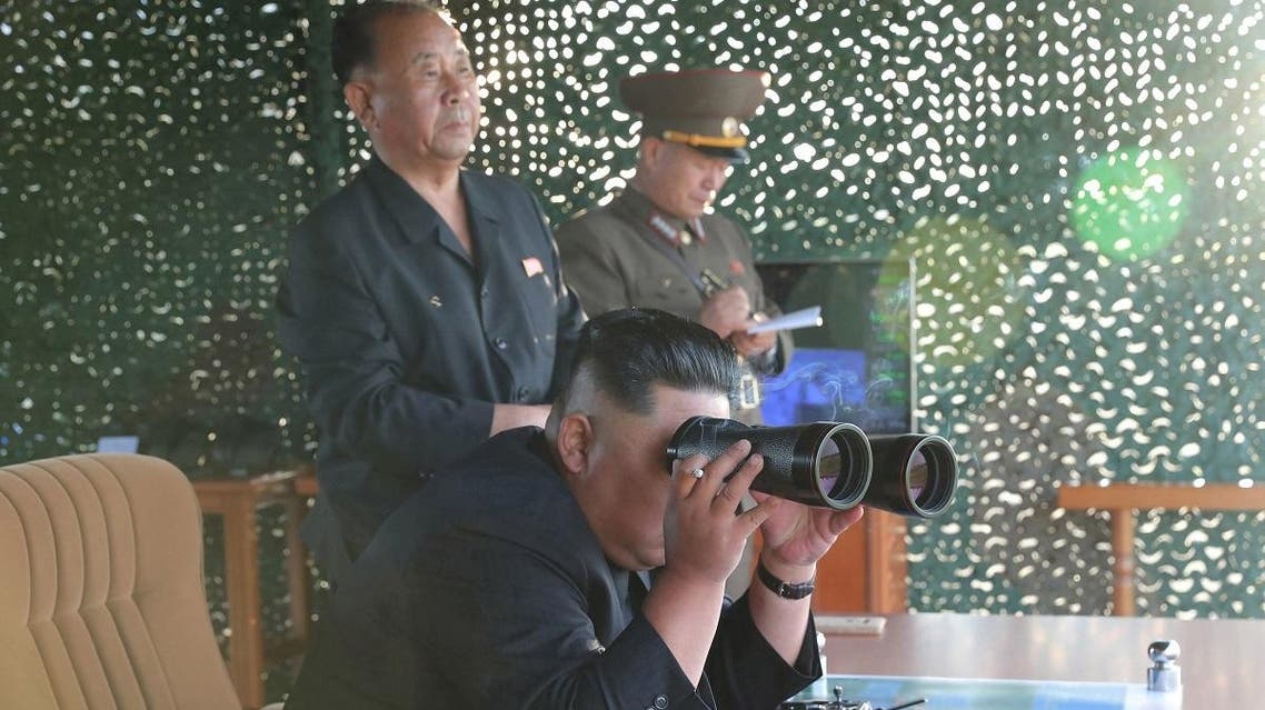 Kim Jong Un attends the test of a multiple rocket launcher in this undated photo released on August 25, 2019 by North Korea's Korean Central News Agency (KCNA). (Reuters)