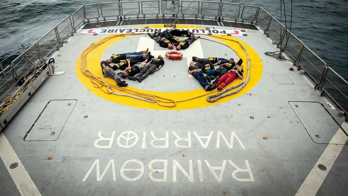 Greenpeace Rainbow Warrior ship Poland coal - AFP