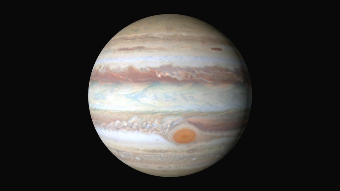 هكذا يظهر أكبر كواكب المجموعة الشمسية بالسماء هذا الشهر