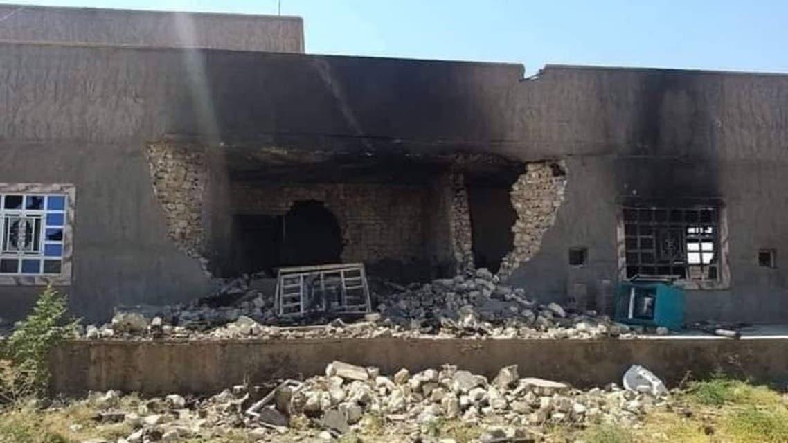انفجار مخزن للحشد في منطقة المعمورة التابعة لقضاء هيت