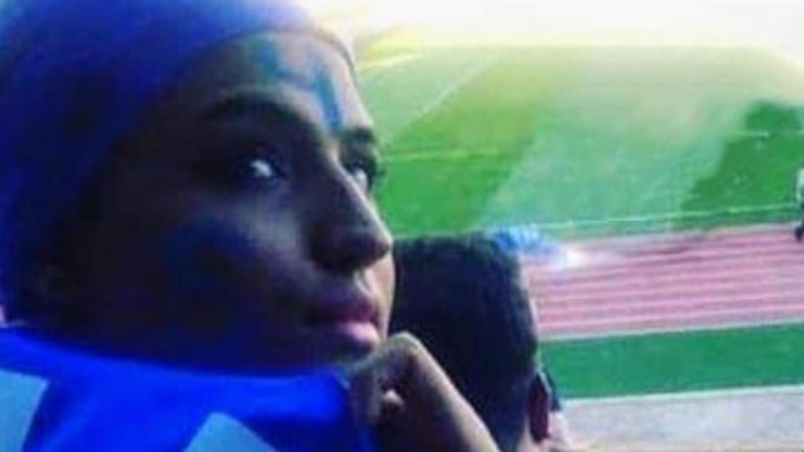 Iranian female football fan sets herself on fire. (Twitter)