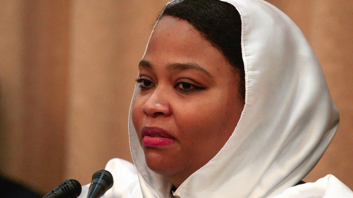 البوشي(فرانس برس)وزيرة الشباب والرياضة في السودان ولاء