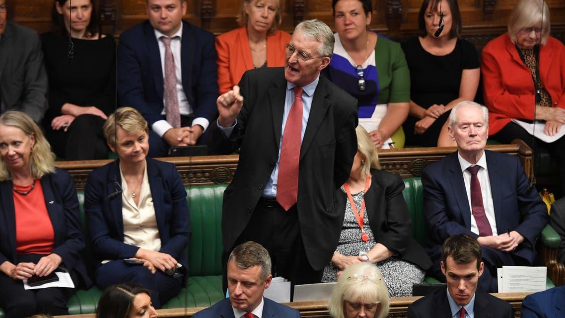 من البرلمان البريطاني(9 أيلول 2019- رويترز)