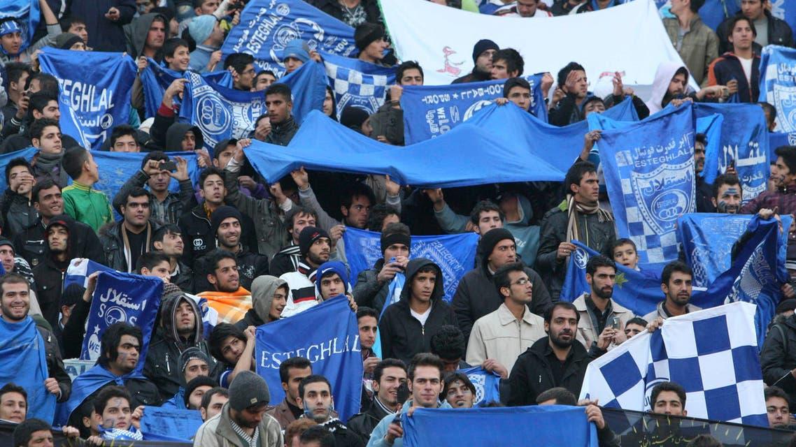 Estheglal football fans blue Iran Khodayari - AP