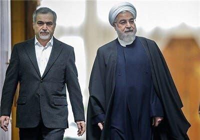 الرئيس الايراني حسن روحاني وشقيقه حسين فريدون