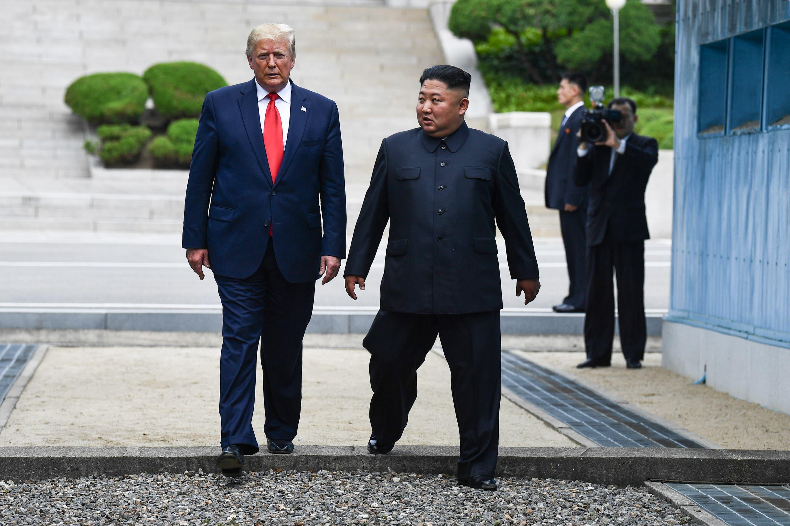 ترمب يلتقي كيم (يونيو 2019 - فرانس برس)