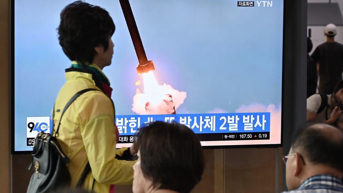 كوريا الشمالية تجري تجربة صاروخية (فرانس برس)
