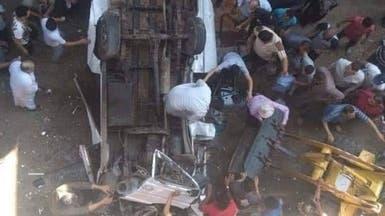 مصر.. 8 قتلى بحادث سقوط ميكروباص في الجيزة