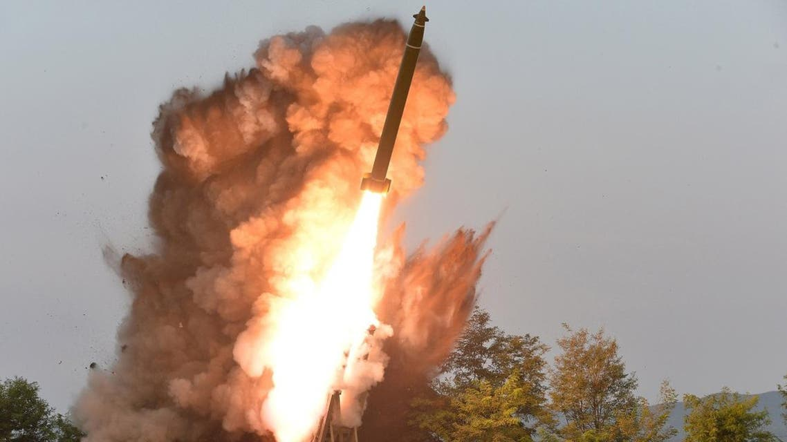 A view shows the testing of a super-large multiple rocket launcher in North Korea, in this undated photo released on September 10, 2019 by North Korea's Korean Central News Agency1 (KCNA). KCNA via REUTERS