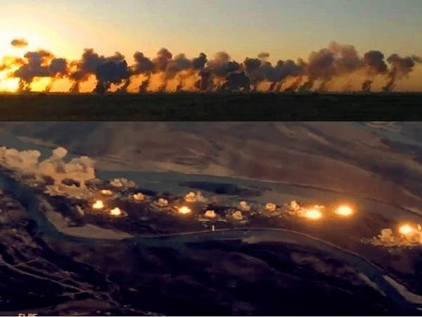 """شاهد السماء تمطر 36 طناً من القنابل على """"دواعش"""" العراق"""