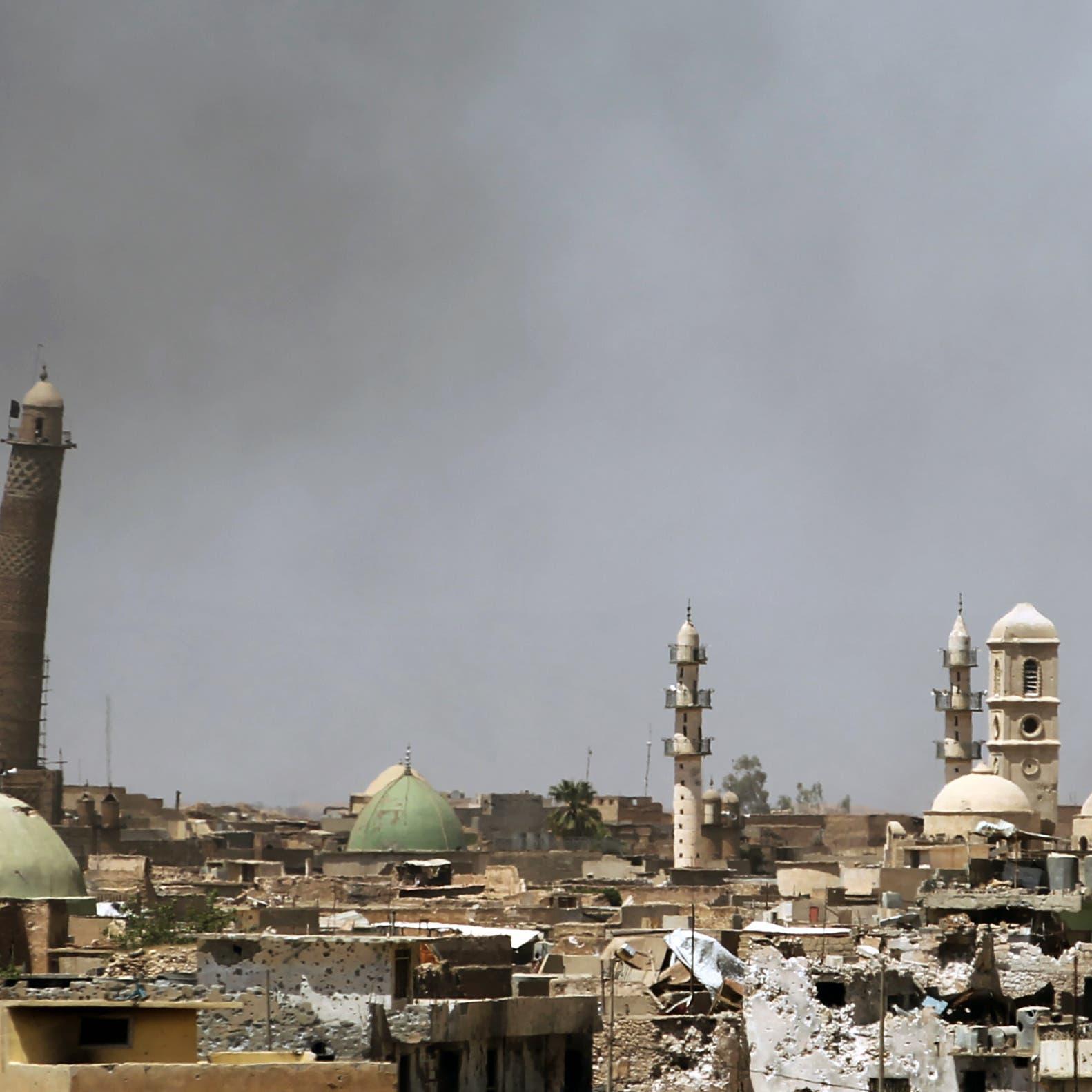 البغدادي اندثر.. جامع الموصل ينفض غبار داعش بأياد مصرية