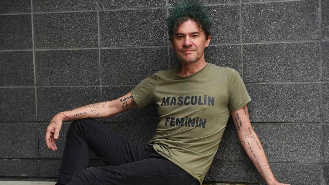 "Mark Cousins, writer/director of the documentary film ""Women Make Film,"" posing for a portrait during the Toronto International Film Festival in Toronto. (AP)"