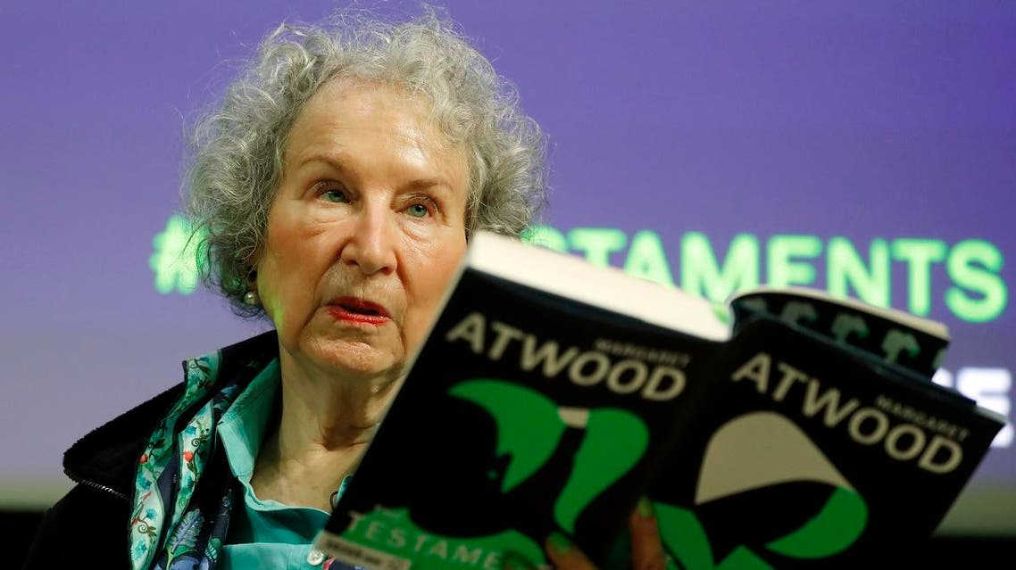 Canadian author Margaret Atwood speaks during a press conference at the British Library to launch her new book 'The Testaments' in London, on September 10, 2019. (AP)