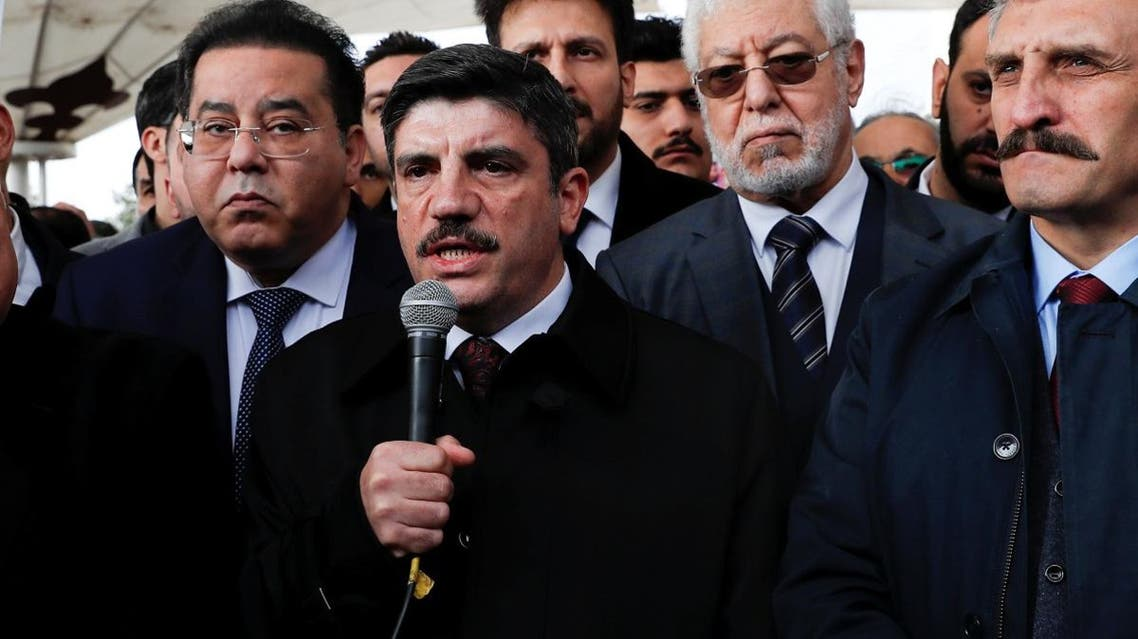 Yasin Aktay, adviser to Turkish president Erdogan speaks during a symbolic funeral prayer for Saudi journalist Jamal Khashoggi at the courtyard of Fatih mosque in Istanbul, Turkey November 16, 2018. REUTERS/Murad Sezer