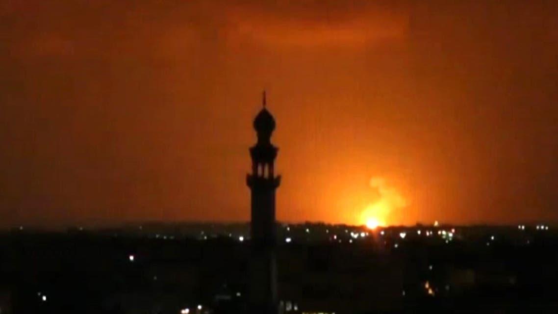 Screengrab of strike on Gaza September 11 Israel Palestine Hamas - AFP