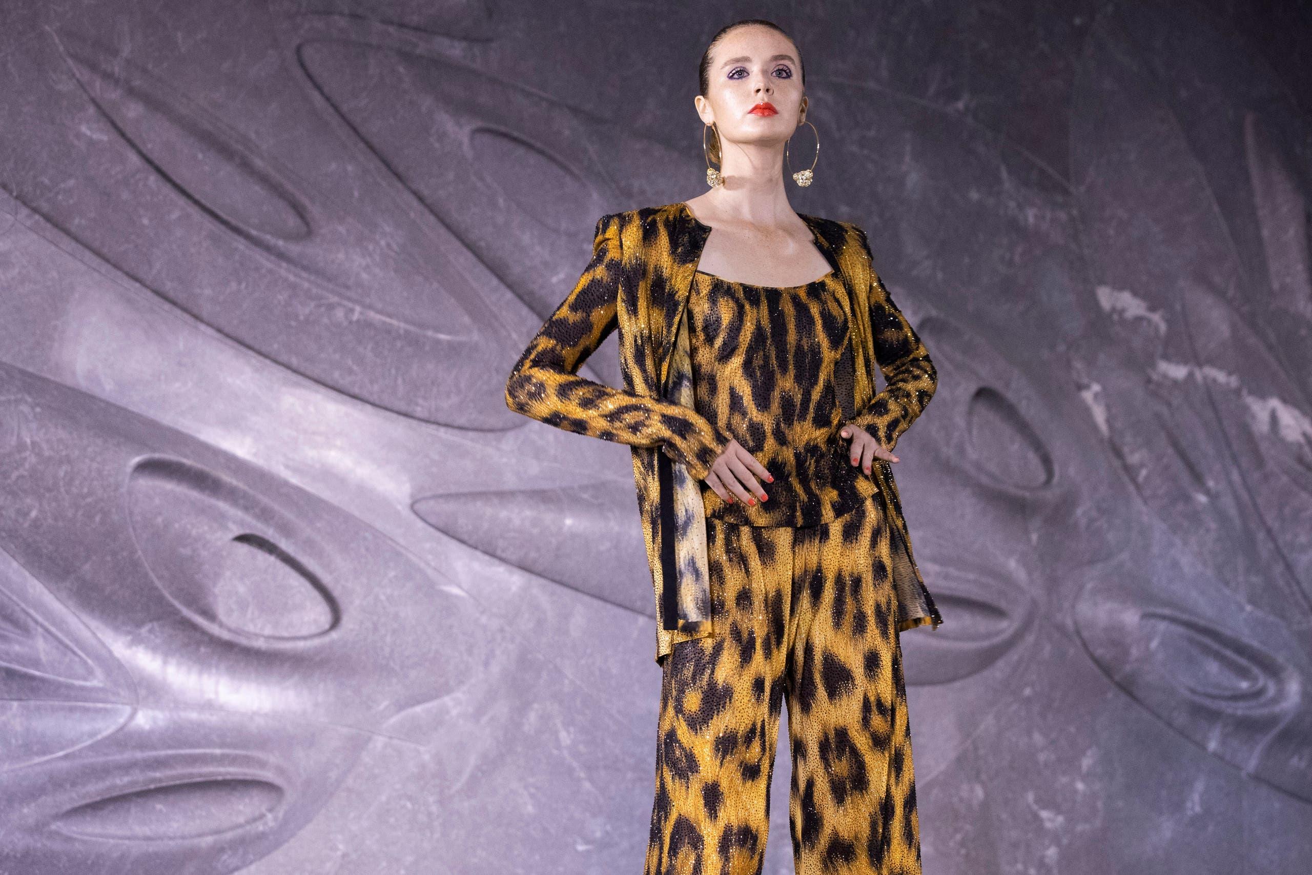 Naeem Khan leopard print 2019 - AP