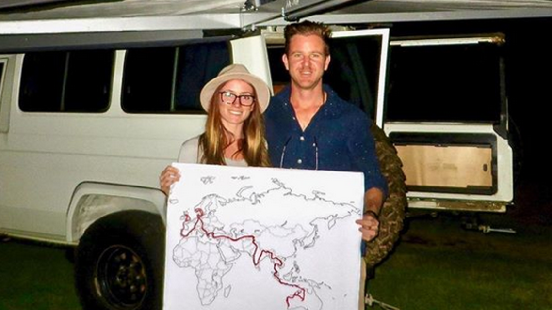 Jolie King and Mark Firkin, two Australian nationals who were detained in Iran. (Instagram)