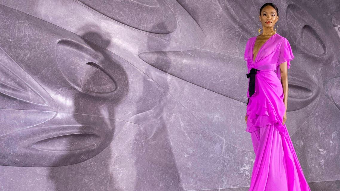 Naeem Khan pink dress 2019 - AP