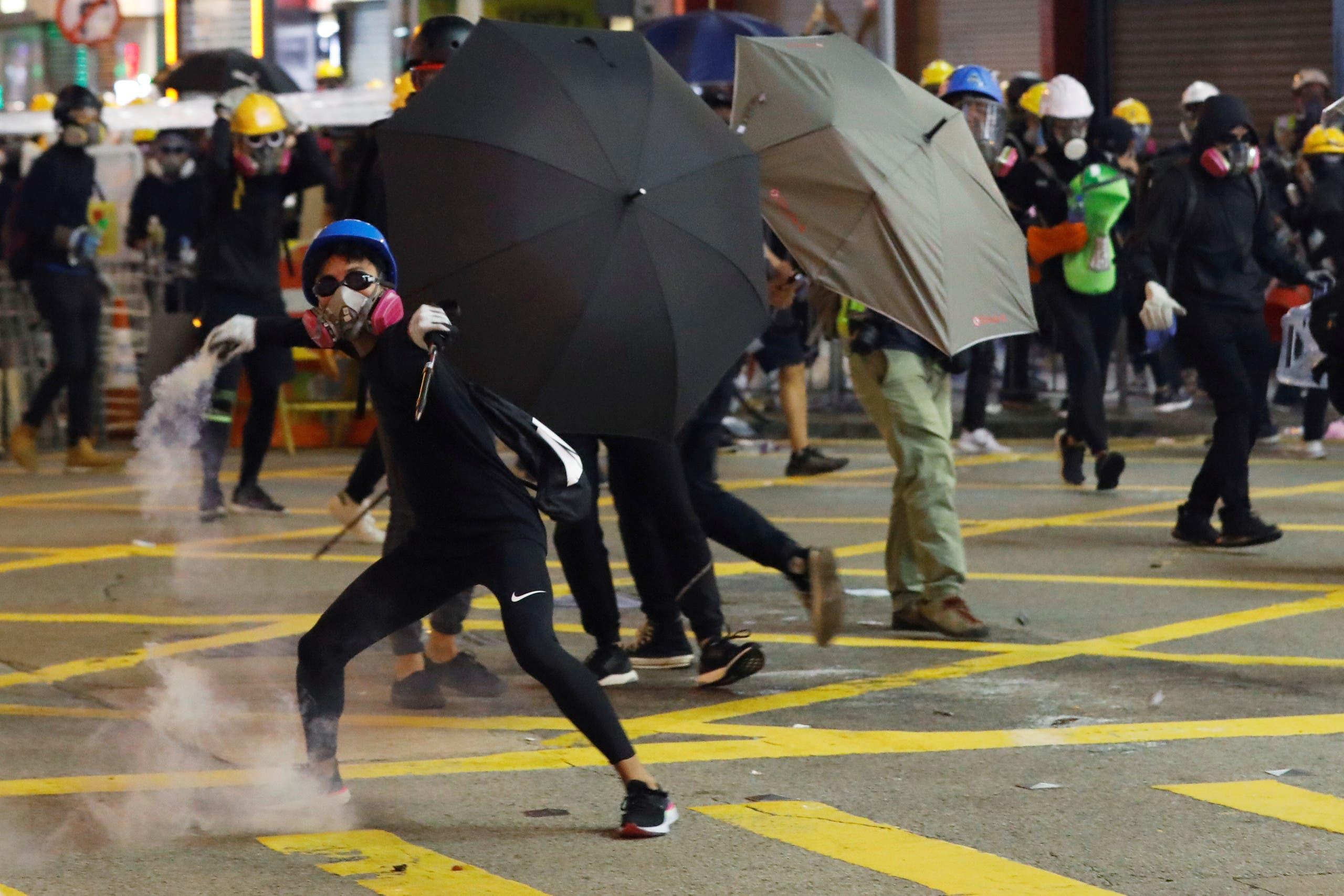 من احتجاجات هونغ كونغ (أرشيفية)